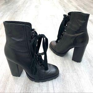 """SCHUTZ """"Zara"""" combat heel boots"""